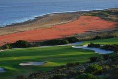 颜色高尔夫球 免版税库存图片