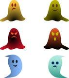 颜色鬼的鬼魂例证 免版税库存图片