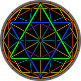 颜色魔术六角星形 库存照片