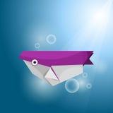 颜色鱼origami二向量 免版税库存照片