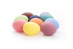 颜色鸡蛋为假日复活节 免版税库存照片