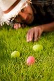 颜色鸡蛋 免版税图库摄影