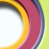 颜色,例证半圆  免版税库存图片