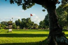 颜色,越南- 2015年11月11日:在草坪的看法在故宫 免版税库存照片