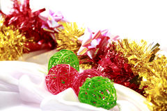 颜色&乐趣在圣诞节&新年 免版税库存图片