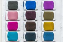 颜色织品调色板范例 免版税库存图片