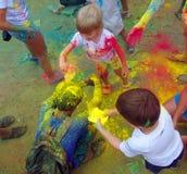 颜色费斯特2014年9月在不冻港 免版税库存照片