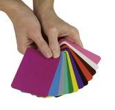 颜色医治用的卡片 免版税库存图片