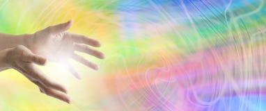 颜色医治用的网站横幅 免版税图库摄影