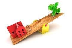 住房债务 免版税库存图片