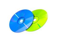 颜色DVD和CD 库存图片