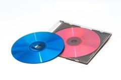颜色DVD和CD 免版税库存照片