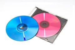 颜色DVD和CD 免版税库存图片