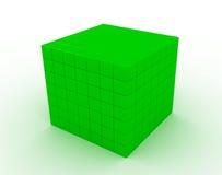 颜色greencube 免版税库存照片