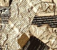 颜色grunge报纸 免版税库存图片