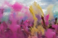 颜色Holi节日,印度 免版税库存照片