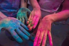 颜色Holi节日,印度 图库摄影