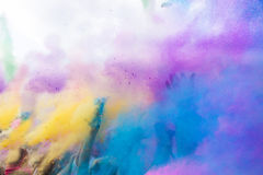 颜色Holi节日,印度 免版税库存图片