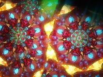 颜色kaleidoscop纹理 库存照片