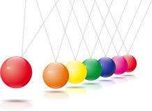颜色newtonpendel 向量例证