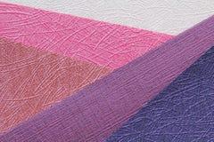 颜色origami被构造的纸张粉红色 库存图片