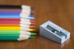 颜色pensils 图库摄影