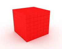 颜色redcube 免版税图库摄影