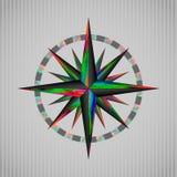 颜色windrose 免版税库存图片