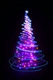 颜色xmas树 图库摄影