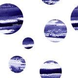 额嘴装饰飞行例证图象其纸部分燕子水彩 抽象纹理蓝色圈子的样式 免版税库存图片