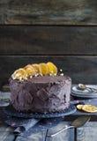 额外巧克力蛋糕 免版税库存图片