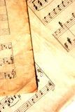 额外的grunge音乐纸张 免版税库存照片