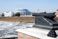 额尔齐斯河在早期的春天 免版税图库摄影