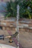 颠倒喷泉的喷口 免版税图库摄影