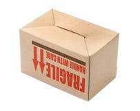 颠倒的纸板箱 免版税图库摄影