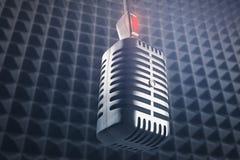 颠倒的mic 向量例证