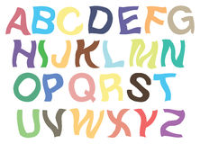 颤抖的字母表传染媒介铅印设计 库存例证