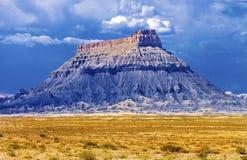 暴风云圣拉斐尔沙漠恶鬼谷国家公园犹他 免版税库存照片
