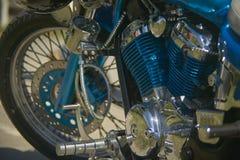 风俗被绘的自行车的引擎 免版税图库摄影