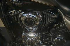风俗被绘的自行车的引擎 库存图片