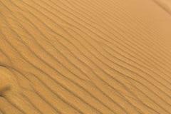风做的小条纹在沙漠 免版税库存照片