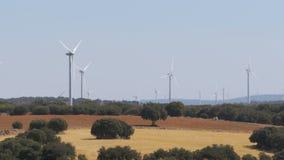 风力在西班牙的沙漠 股票录像