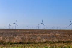 风力场在北部得克萨斯 库存照片