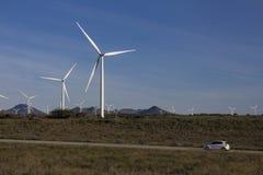 风力场在南非 图库摄影