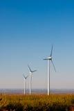 风力场涡轮,生态 免版税图库摄影