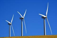 风力场Biglow峡谷哥伦比亚河 免版税库存照片