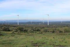 风力场Fascinas,安大路西亚,西班牙 免版税库存图片