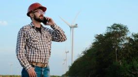 风力植物的工程师 影视素材