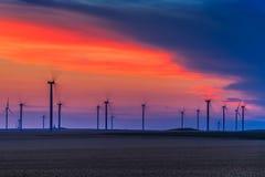 风力涡轮 图库摄影