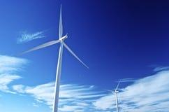 风力驱动的天空 库存照片